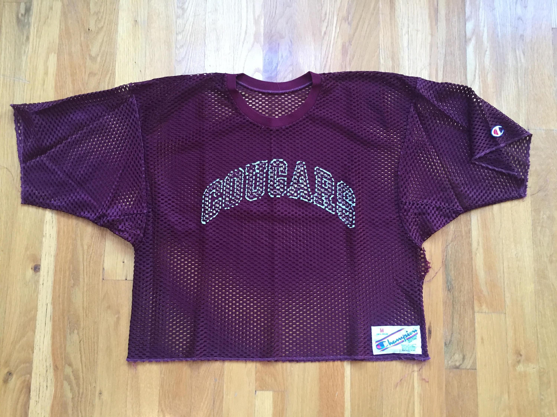 9eb7f1cf9 Vintage 80 s Champion Jersey mesh practice size M maroon