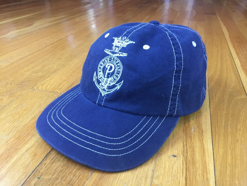 137a05580 Vintage Polo Marine Supply hat 90s polo ralph lauren hat leather strap polo  hat polo dad hat marine supply co. PRL polo bear polo sailing