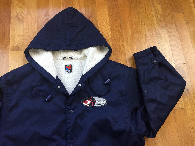 2628c21d516a6 Vintage Mickey Mouse long coat fleece lined winter jacket walt | Etsy
