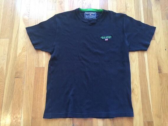 Vintage Polo Sport Ralph Lauren tshirt size LS-M black  12d35aa8ade7f