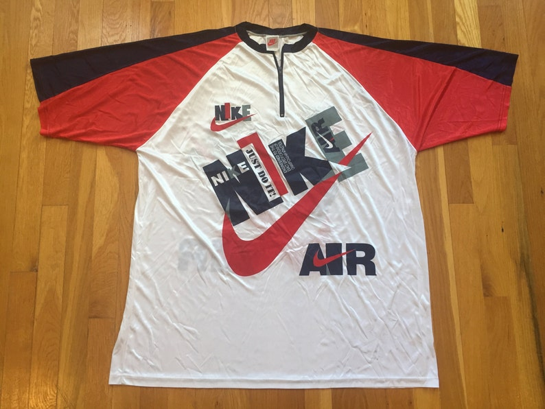 f312d9ae2 Vintage 90 s Bootleg Nike jersey size XL nike air grey tag