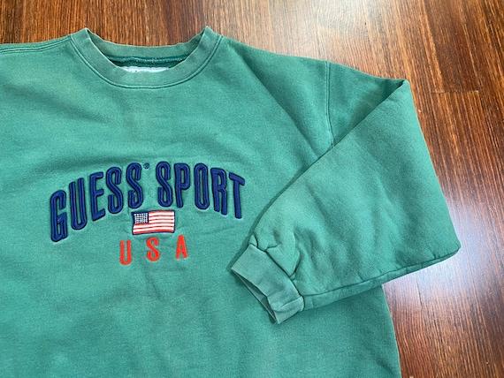 Vintage Guess Sport sweatshirt 90s Guess Sport cre