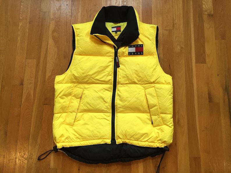 e46738d3 Vintage Tommy Jeans puffy vest size L tommy hilfiger tommy   Etsy