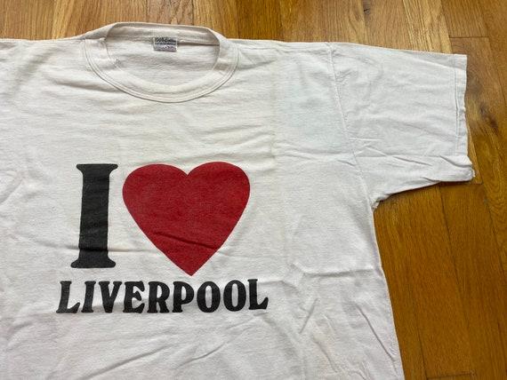 Vintage I love Liverpool shirt 80s liverpool tshir
