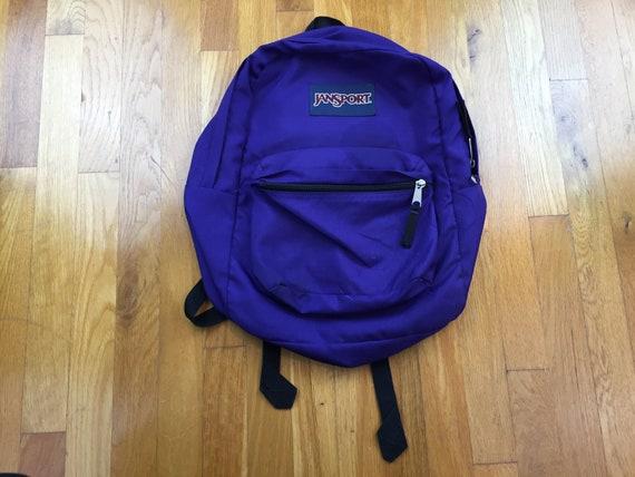 Vintage Jansport backpack 90s purple jansport bag