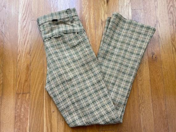 Vintage Key Man pants 60s key man plaid pants 60s… - image 1