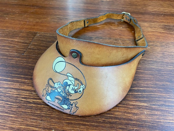 Vintage Cowboy Mickey Mouse visor 70s mickey mouse