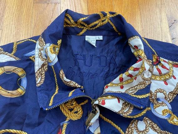 Vintage Fuda Silk Jacket 80s silk jacket vintage … - image 4