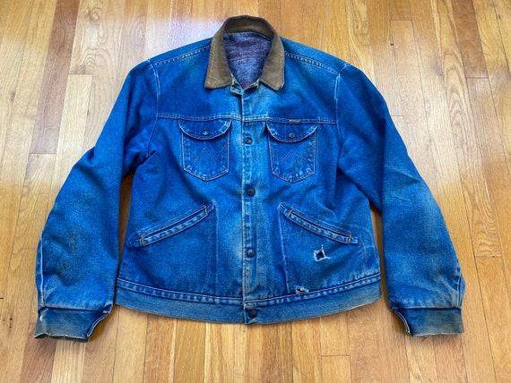 Vintage Wrangler denim jacket 70s wrangler jacket