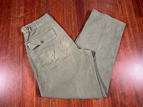 Vintage Sateen OG 107 Trousers Green military pant