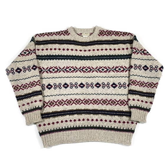 Vintage LL Bean Sweater 80s LL Bean sweater Made … - image 1