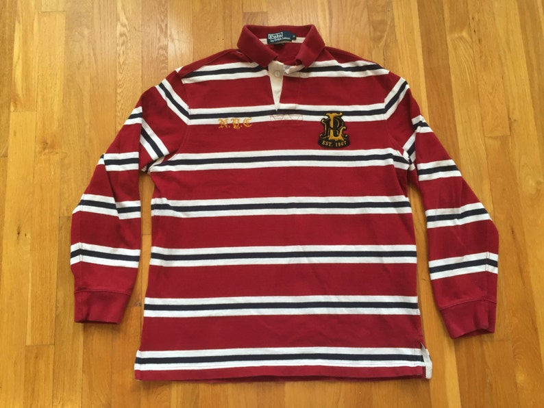 597a5790a Vintage 90s Polo Ralph Lauren NYC longsleeve rugby size ML