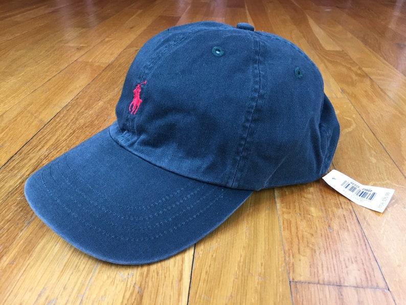 f1406bdefe97e Vintage Polo hat 90s polo hat leather strap vintage ralph