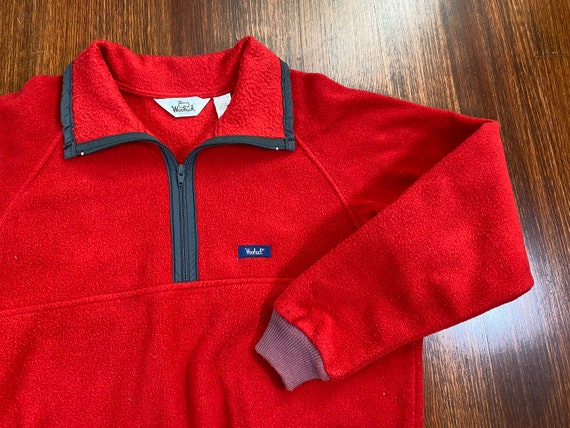 Vintage Woolrich fleece 80s woolrich sweatshirt re
