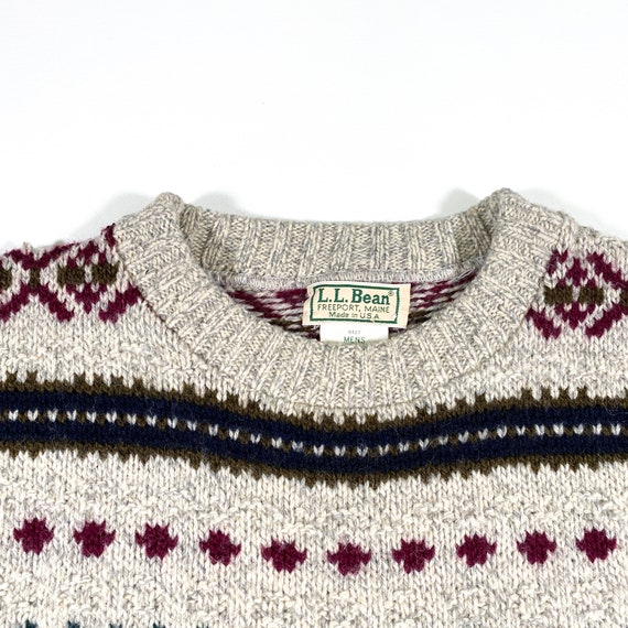 Vintage LL Bean Sweater 80s LL Bean sweater Made … - image 4