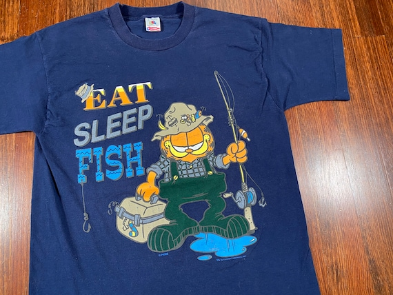 Vintage Garfield Fishing shirt 90s garfield shirt