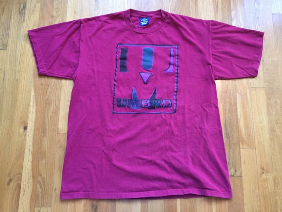 c2391d79bf171 Vintage 90's Umbro tshirt size XL(L) maroon UM sports athletic college  football sportswear