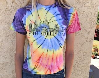 e4bd168a Vintage Philadelphia T-Shirt,Philadelphia Tie Dye T-Shirt,Tie Dye Tee,Size  X-Small T-Shirt,Philly T-Shirt,Vintage Tie Dye,90s 1990s T-Shirt