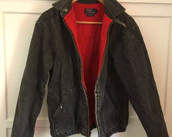 pony apparel ralph lauren red bomber jacket