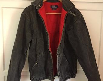 pony apparel ralph lauren red bomber jacket