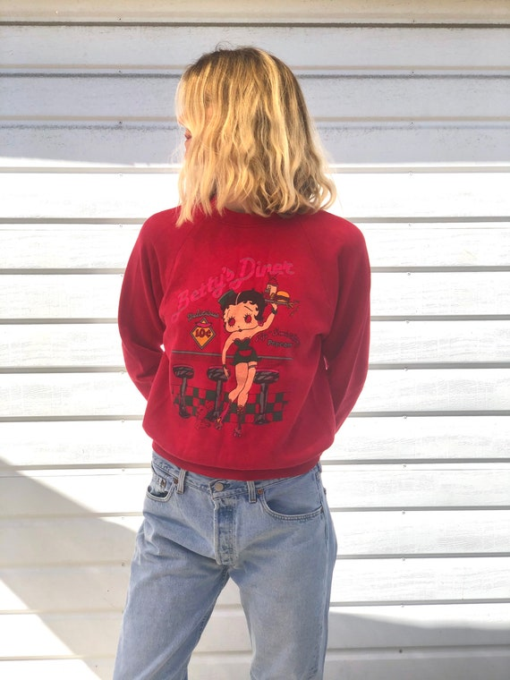 Vintage Betty Boop Betty's Diner Sweatshirt,Vintag