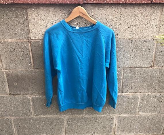 Vintage Blue Thin Sweatshirt,Raglan Sweatshirt,Fad