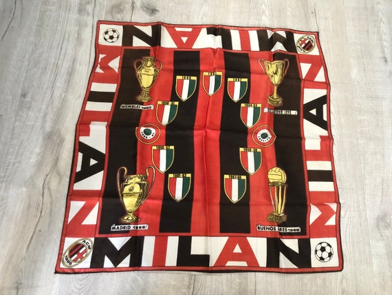 Vintage 1960s ACM Milan Soccer Football Trophy Sca