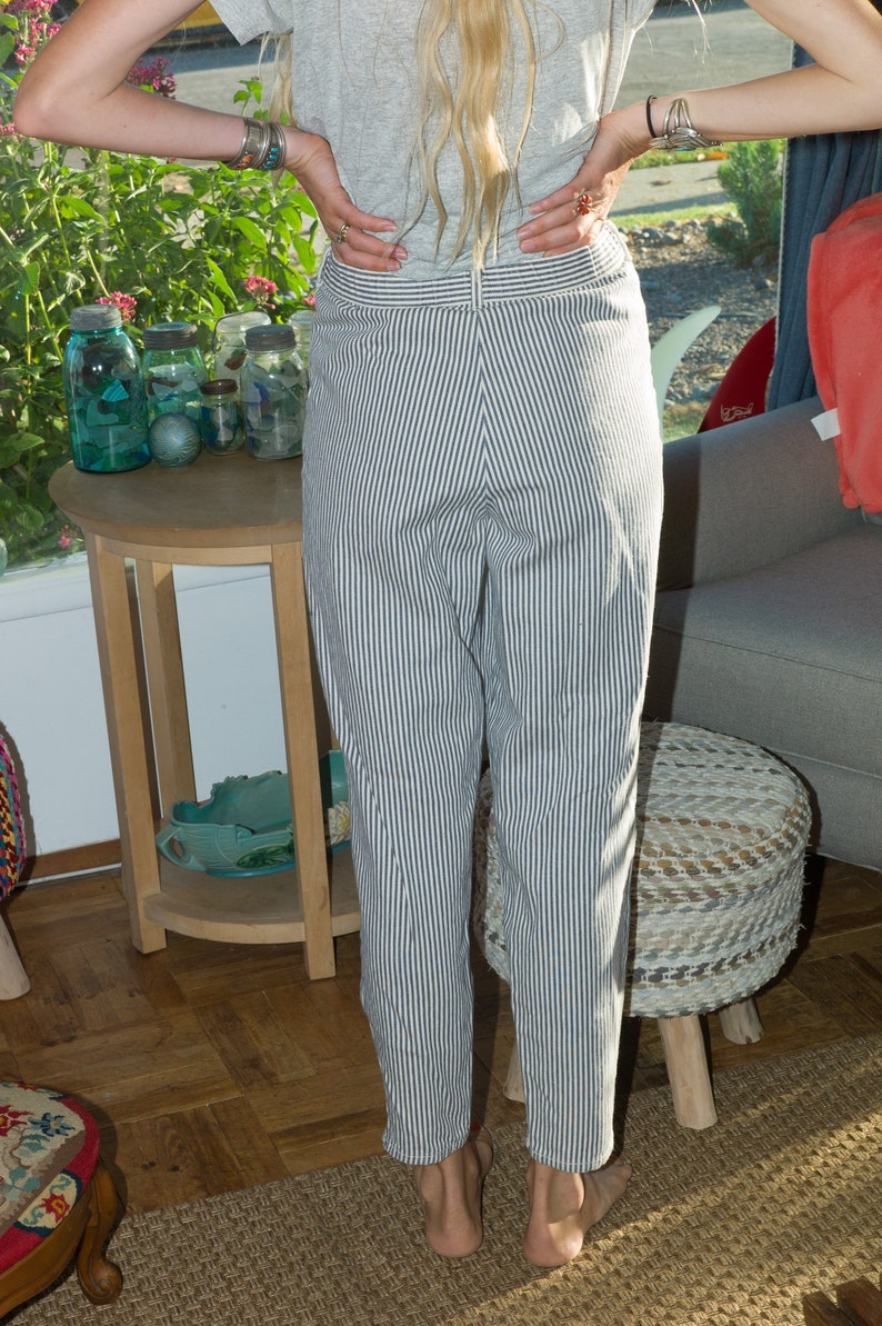 Vintage Striped Jeans 27 80s Highwaisted Striped Pants Jeans Vintage Striped Pants Cherokee Made in USA Pants Highwaisted Jeans,27 x 29
