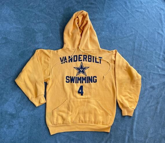 Vintage 70s Vanderbilt Swimming Hoodie Sweatshirt… - image 1
