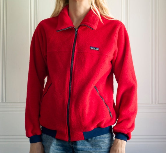 Vintage red Patagonia fleece jacket,Patagonia flee