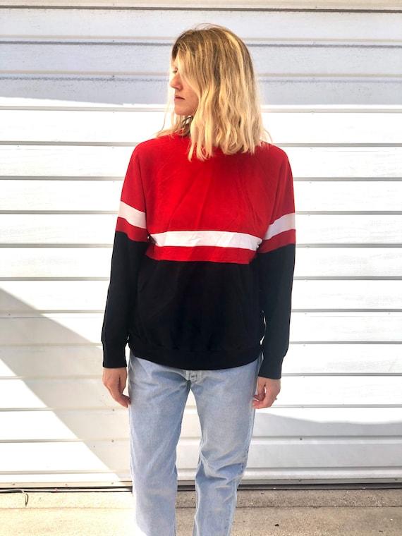 Vintage 70s thin striped sweatshirt,Raglan Sweatsh