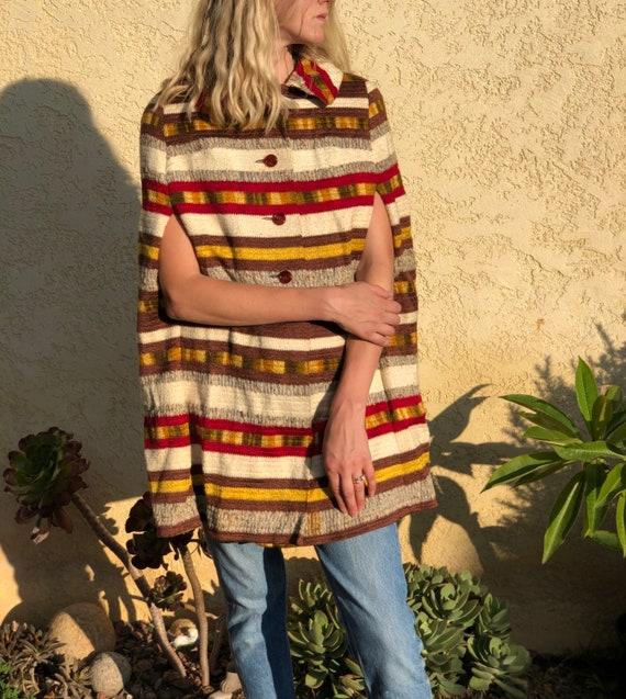 Vintage 1960s cape coat,mod cape coat,60s 1960s po