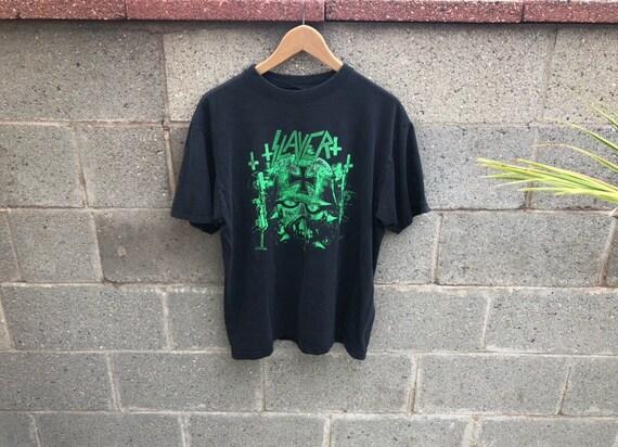 Vintage 90s Slayer T Shirt, Worn in Slayer T Shirt