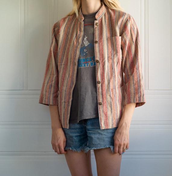 Vintage striped chore coat size medium,lightweight