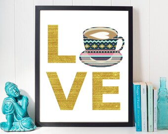 coffee lover, coffee sign, kitchen coffee sign, coffee art, coffee decor, coffee quote print, coffee lovers gift, coffee gift, coffee print