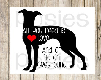 italian greyhound art, greyhound print, greyhound wall art, iggy dog, dog lover gift, greyhound decor,greyhound gift,italian greyhound decor