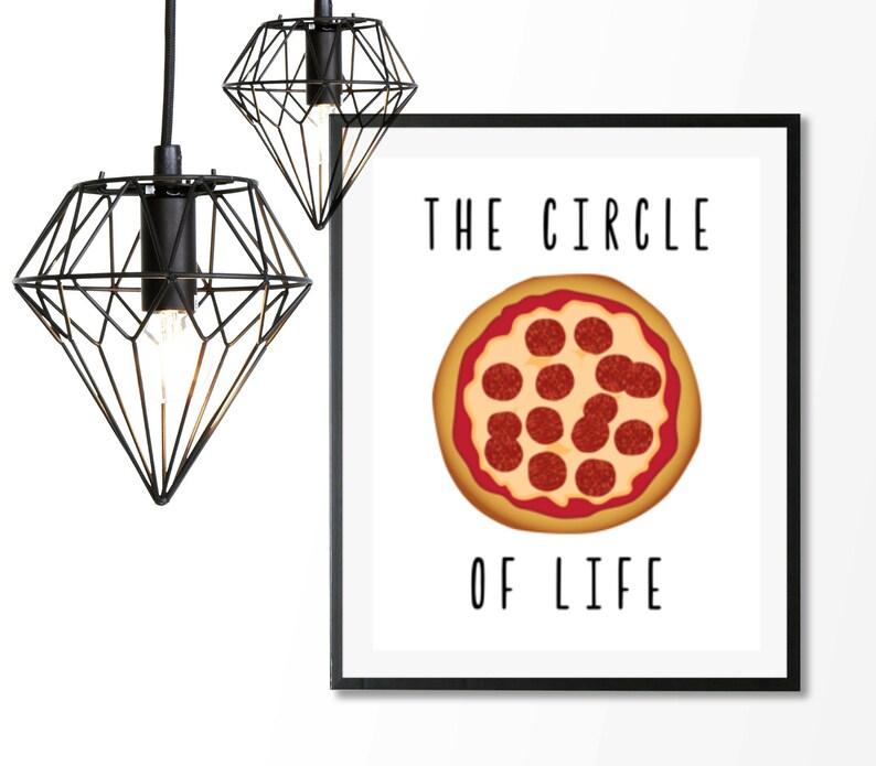 Pizza Print Pizza Wall Art Pizza Poster Funny Kitchen Etsy