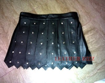 Real Cow Leather Gladioter Roman Kilt club wear