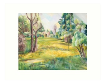 Art Print Taken From The Original Oil Painting 'The Wild Garden' By Sally Anne Wake Jones