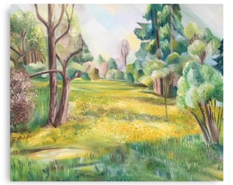 Canvas Print Wall Art Taken From The Original Oil Painting 'The Wild Garden' By Sally Anne Wake Jones