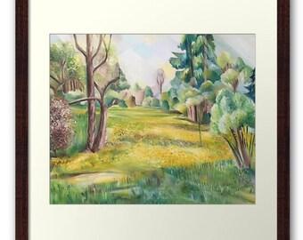 Framed Print Wall Art Taken From The Original Oil Painting 'The Wild Garden' By Sally Anne Wake Jones