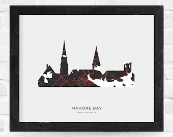 Mahone Bay Three Churches Print