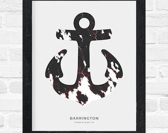 Barrington Anchor Print