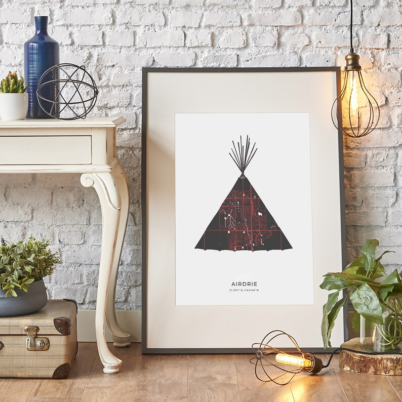Airdrie Teepee - Map Print