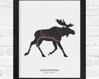 Edmundston Moose Print