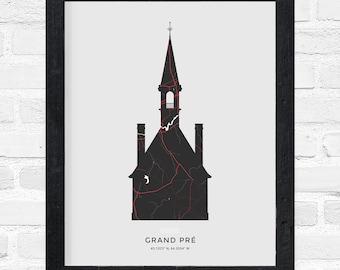 Grand-Pré Church Print