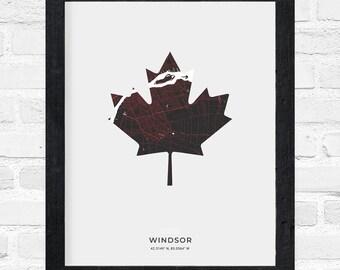 Windsor Maple Leaf Print