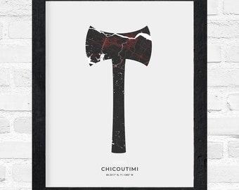 Chicoutimi Double Axe Print