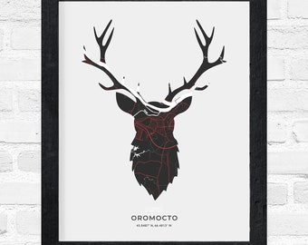 Oromocto Stag Print