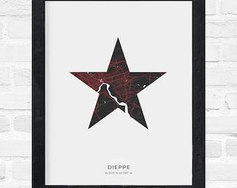 Dieppe Star Print